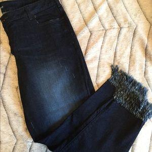 EUC ADORABLE Lane Bryant Fringe Legged Jeans